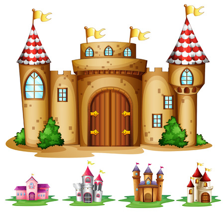 Illustration of a set of castles Vector