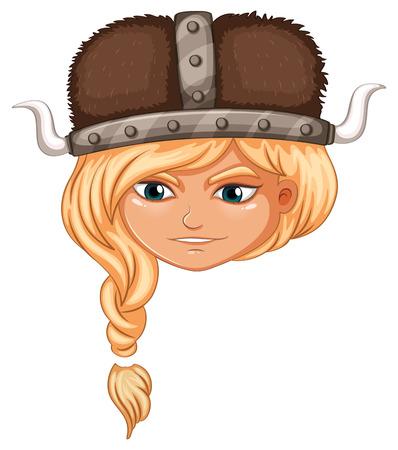 Illustration of a girl viking Vector