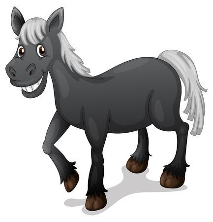 Illustratie van een zwart paard Vector Illustratie