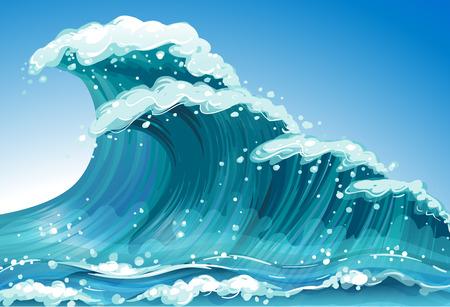 Illustration of a single wave Stock Illustratie
