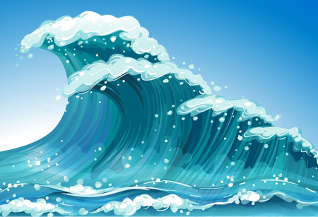 Illustration of a single wave Illustration