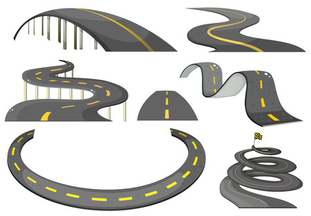 curve line: Illustration of a set of roads