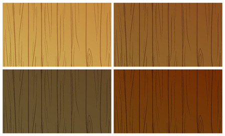 texturized: Illustration of the wooden textures on a white background