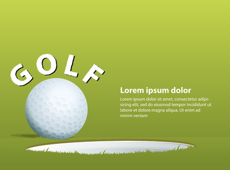 wording: Illustration of a golf ball