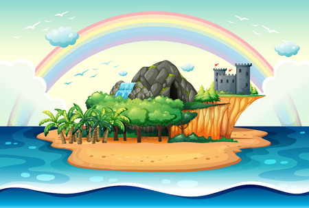 Illustration of a desert island Vector