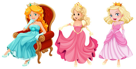 Illustration of princesses Vector