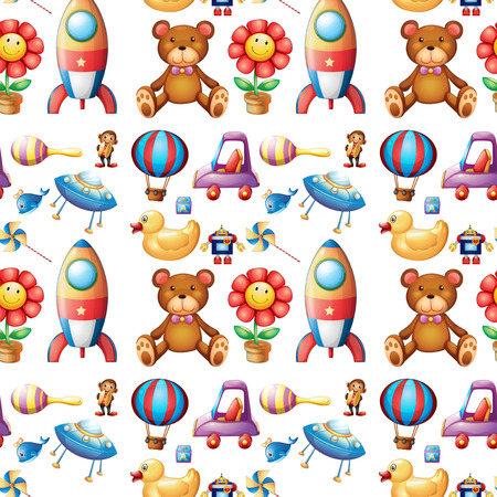 toy fish: Illustration of different toys Illustration