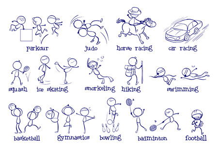 Illustration of the different types of sports on a white background Vector