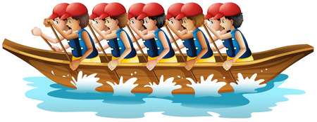 sports race: Illustration of a boat racing
