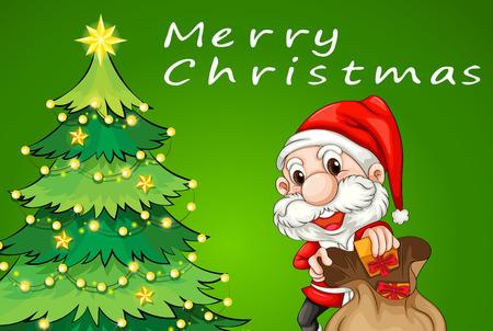 stars cartoon: Illustration of a christmas card