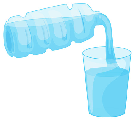 pour water: Illustration of a closeup pouring water