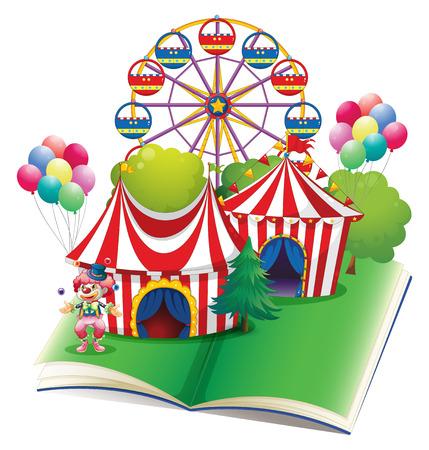 Illustration of a carnival popup book Illustration