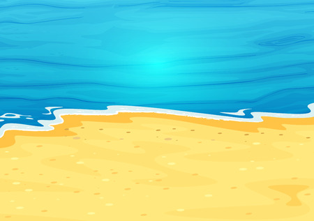 Illustration of a beautiful view of the beach Ilustração