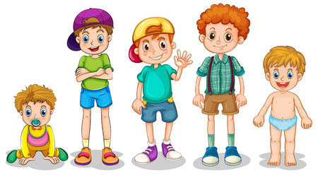 Illustration of young boys Vector
