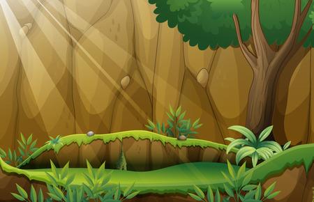 jungle scene: Illustration of a jungle scene Illustration