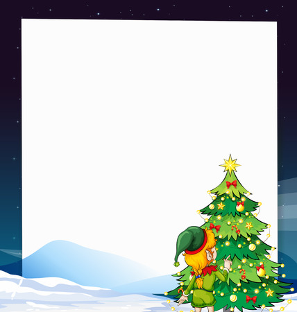 Illustration of a banner with christmas background Vector