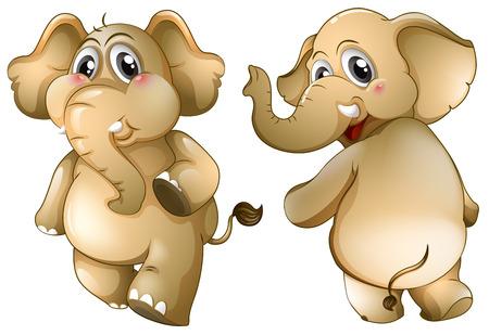 strenght: Illustration of two elephants Illustration