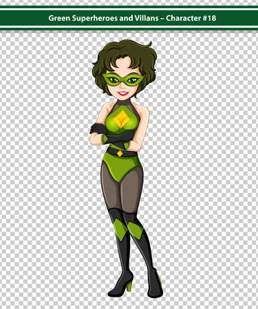 rescue imagine: Illustration of a pretty female superhero