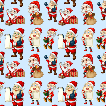 santa clause: Illustration of christmas wrapping