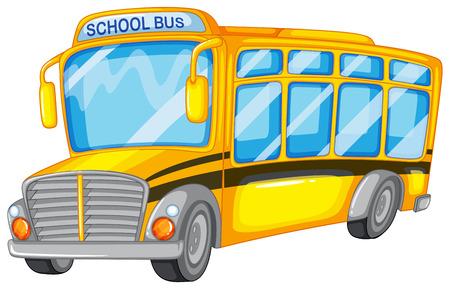 Illustration of a closeup school bus Illustration