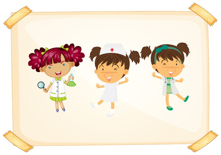 Illustration of doctors and nurse Vector