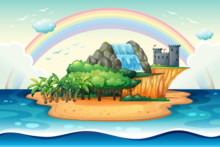 Illustration of an island Vector
