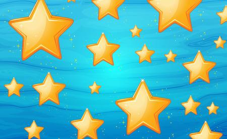 Illustration of star background Vector