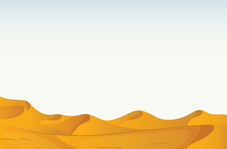 sand dunes: Illustration of a scene of a desert