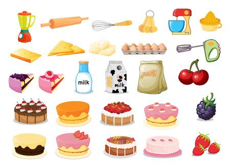 food clipart: Illustration of different desserts Illustration