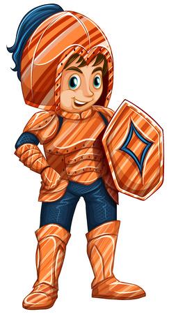 kids costume: Illustration of a male knight Illustration