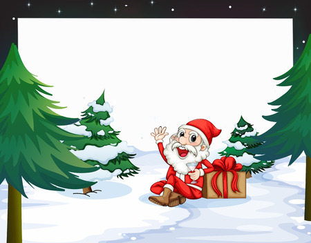 Illustration of a banner with a view of christmas Vector