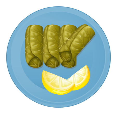 melaware: Illustration of a plate with healthy foods on a white background