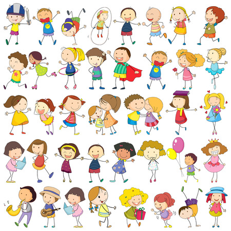 Illustration of children  Vector