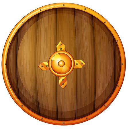 Illustration of a single shield Vector