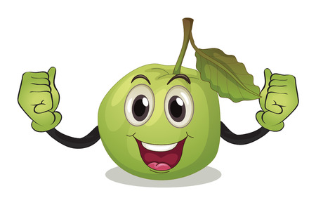 guava: Illustration of a guava with face Illustration