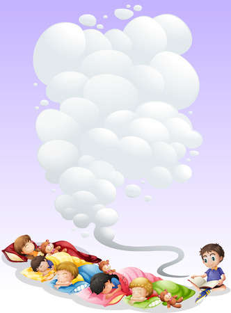 Illustration of children are taking a nap Vector
