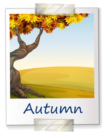 Illustration of a photo of autumn Vector