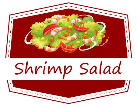 seafood salad: Illustration of a healthy shrimp salad Illustration