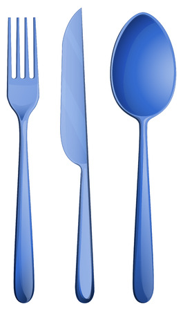 Illustration of a dining set of silverware Vector