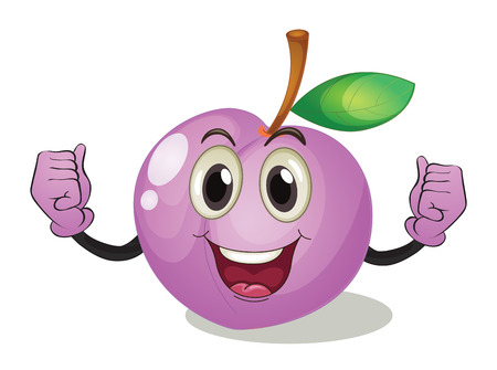 Ilustración de una fruta con la cara Foto de archivo - 31239516