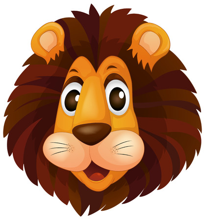 Illustration of a head of a lion on a white background Vector