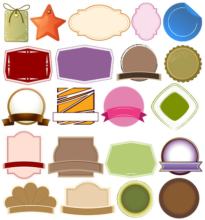 nametag: Illustration of the different empty templates on a white background Illustration