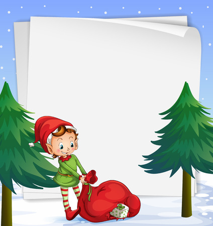 Illustration of an empty template for christmas Vector