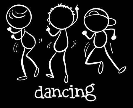 Illustration of people dancing together Vector