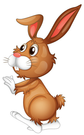 Illustration of an easter rabbit Illustration