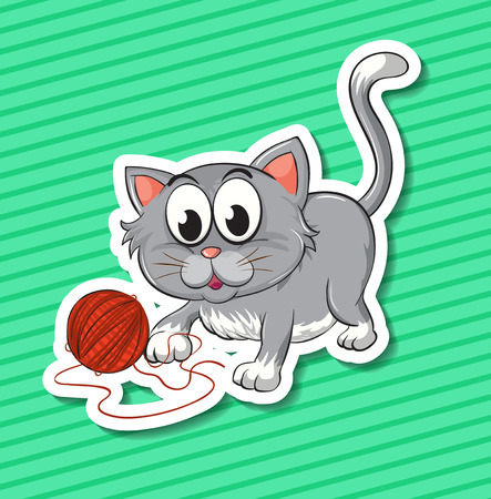 housepet: Illustration of a kitten with background