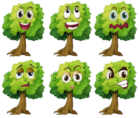 Illustration of trees with expressions Ilustrace