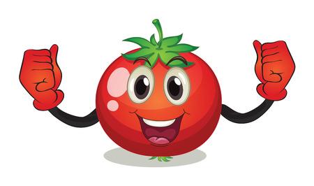 illustraion: Illustraion of a tomato with face Illustration