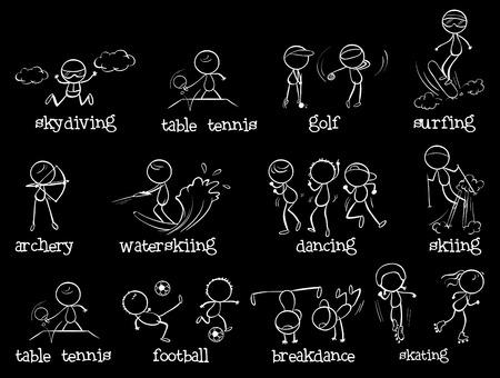 illustraion: Illustraion of many type of sports