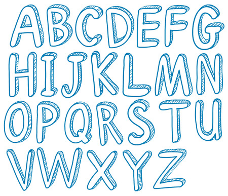 illustraion: Illustraion of English alphabet